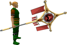 Banner of Zamorak (tier 4) equipped