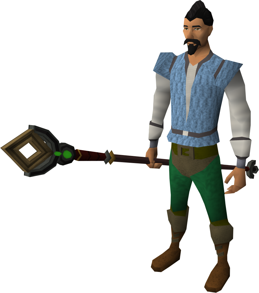 Caitlin's staff equipped