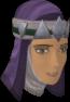Dervish hood (violet) chathead