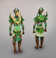 Elven city melee warrior model art