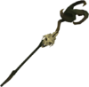 Skeletal mud battlestaff detail