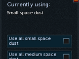 Small space dust