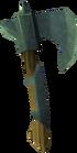 Adamant throwing axe detail