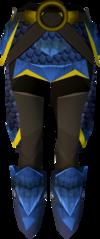 Blue dragonhide chaps (g) detail