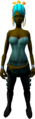 Feather headdress (charged) (orange) equipped.png