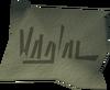 Izzy's mark detail