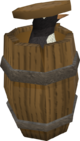 Penguin in barrel