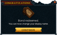 Redeemed a bond for name change