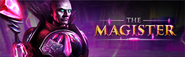 The Magister lobby banner