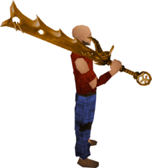 Golden Bandos godsword equipped