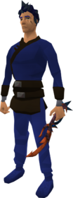 Kalphite defender equipped