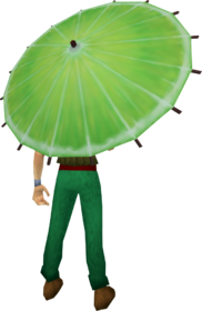 Lime parasol equipped