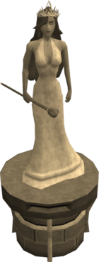 Queen Ellamaria statue