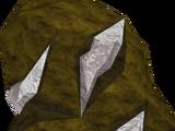 Silver ore rocks