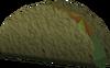 Vegetable-filled flatbread detail