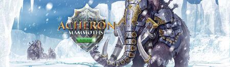 Acheron mammoths head banner