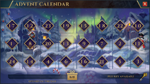 Christmas Advent Calendar (2019) interface