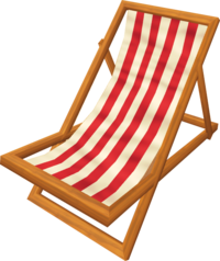 Deck chair (red)