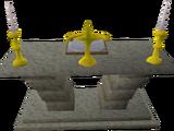 Limestone altar