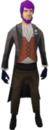 Gothic outfit equipped (male)
