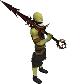 Lucky Zamorak godsword equipped