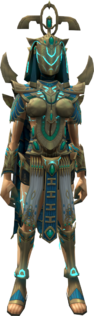 Menaphite Ancient Outfit equipped (female)