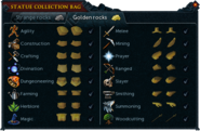 Statue collection bag interface (Golden rocks)