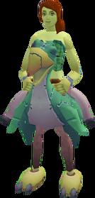 Terrorbird mount (green) equipped