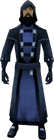 Black wizard robes equipped