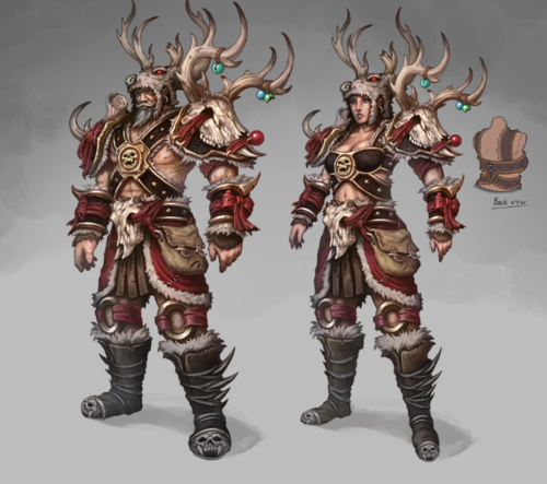Cheer Hunter outfit concept art