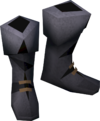 Colonist's boots (blue) detail