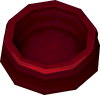 Dog bowl (red) detail