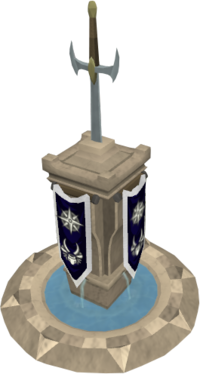 Elaborate melee pillar