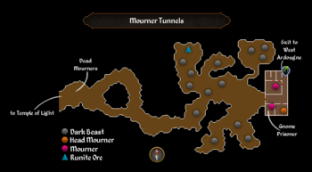 Mourner Tunnels map