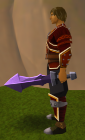 Off-hand mithril ceremonial sword III equipped
