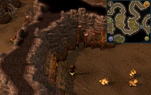 Scan clue Fremennik Slayer Dungeon west side of pyrefiend chamber