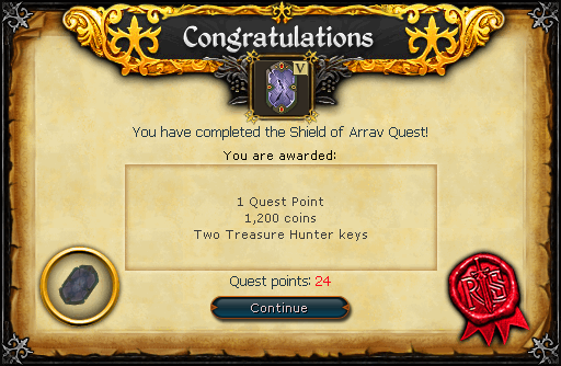 Shield of Arrav reward