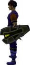 Dromoleather shield equipped.png
