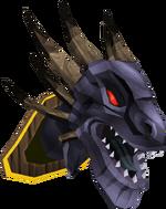 King black dragon head (mounted) built