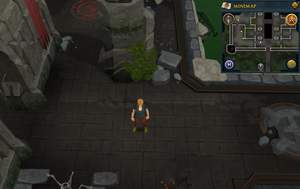 Compass clue Canifis west of Slayer Tower entrance