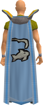 Retro fishing cape equipped
