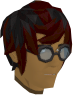 Round glasses (black) chathead