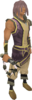 Abyssal whip (white) equipped