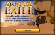 Aiding the Exile popup