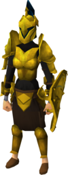 Gilded armour set (sk) equipped