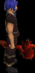 Maça dragônica equipada