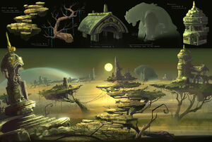 Naragi world concept art