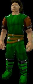 Pirate bandana (brown) equipped