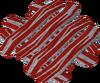 Raw bacon heap detail