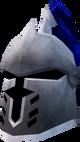 Steel heraldic helm (Arrav) detail